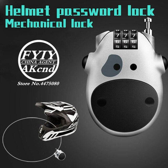 Casque moto universel antivol casque mot de passe verrouillage accessoires moto pour yamaha honda