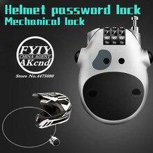 Universal Motorcycle helmet anti-theft lock Helmet password accessories for yamaha honda