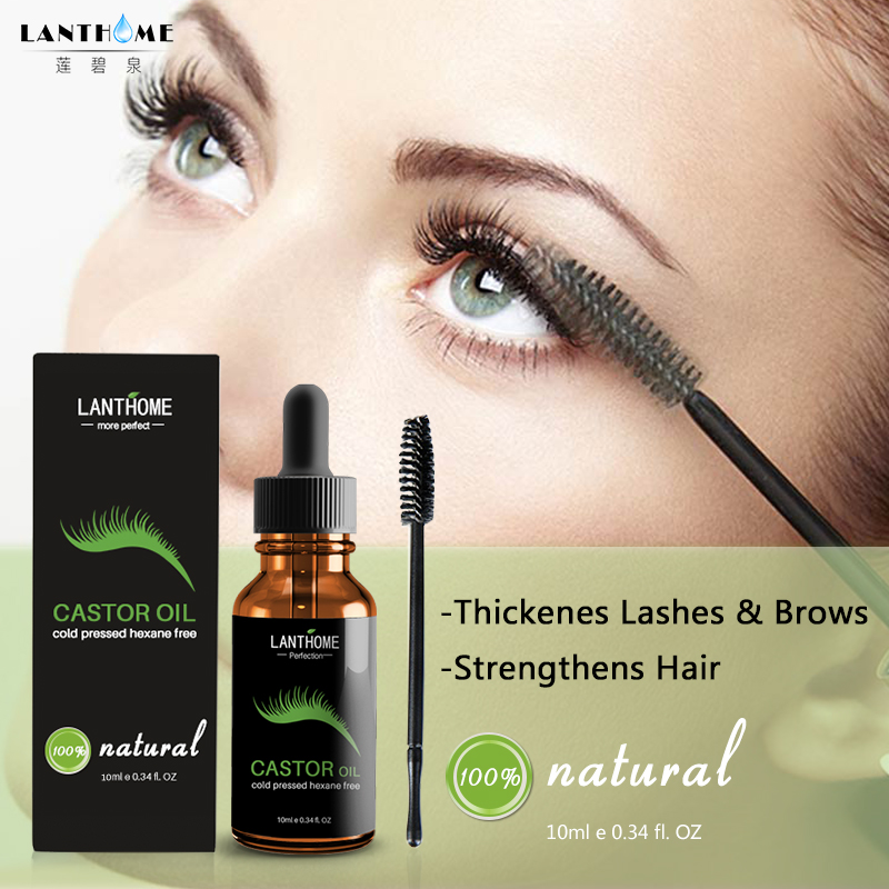 f8b9614575f Castor Oil Hair Growth Serum for Eyelash Growth Lifting Eyelashes Thick Eyebrow  Growth Enhancer Eye Lashes Serum Mascara 10ml
