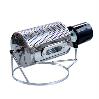 220V Multifunctional Electric Drum Type Baking Machine Coffee Bean Roasting Machine Stainless Steel Roller Diameter 14CM EU/AU