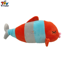 30cm Push Fish Toy Stuffed Cartoon Ocean Animal Bedroom Deco