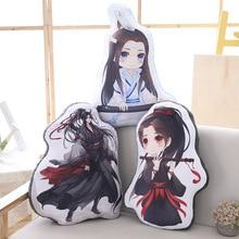 Nova 50 centímetros Mo Shi Dao Zu Figura Dos Desenhos Animados Travesseiro Wei Wuxian LanWangji Boneca Bolster Travesseiro Anime Em Torno