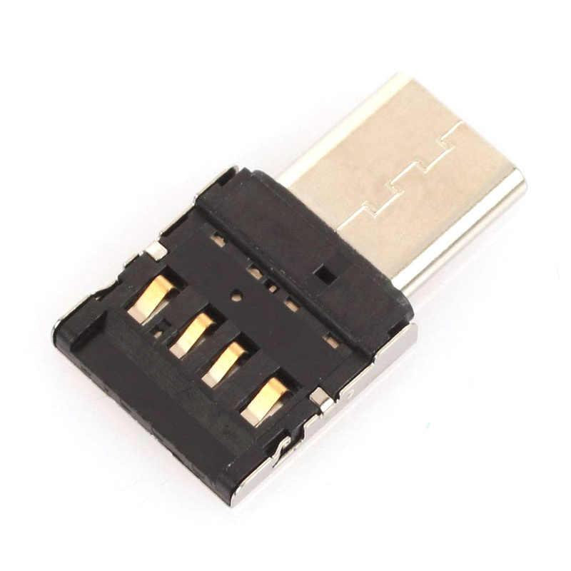 2 PCS Mini OTG Typ-C Zu USB 3.0 Handy U Disk Reader Tabletten Adapter otg kabel Konverter Für samsung S9 One Plus 5 T OTG