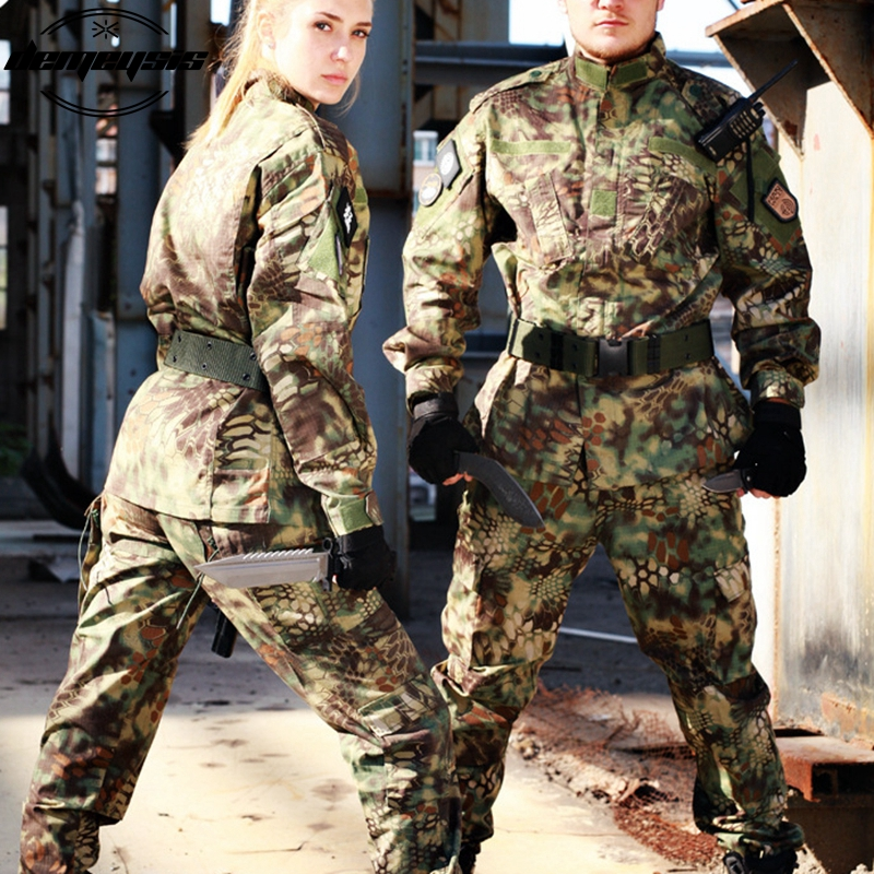 Ensemble tactique de costume de Camouflage numérique boisé uniforme militaire de Combat uniforme Airsoft chemise + pantalon - 4