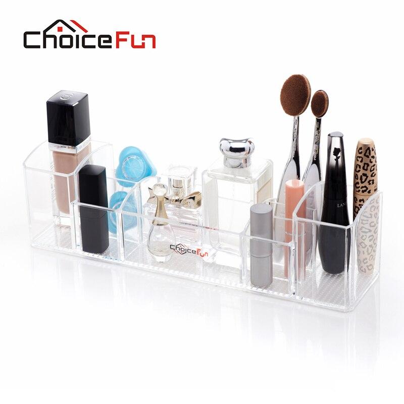 Cosmetic-Organizer Makeup-Holder Desktop-Perfume Acrylic Bathroom Clear FUN for CHOICE