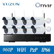 960P  wifi cctv kits 8ch wirelsssIP Video Security CCTV kits  Camera WIFI Surveillance System outdoor indoor cascade mode