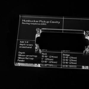 Image 3 - Musiclily Pro CNC Chính Xác Acrylic Humbucker Định Tuyến Bản Mẫu Cho Đàn Guitar Điện Cơ Thể