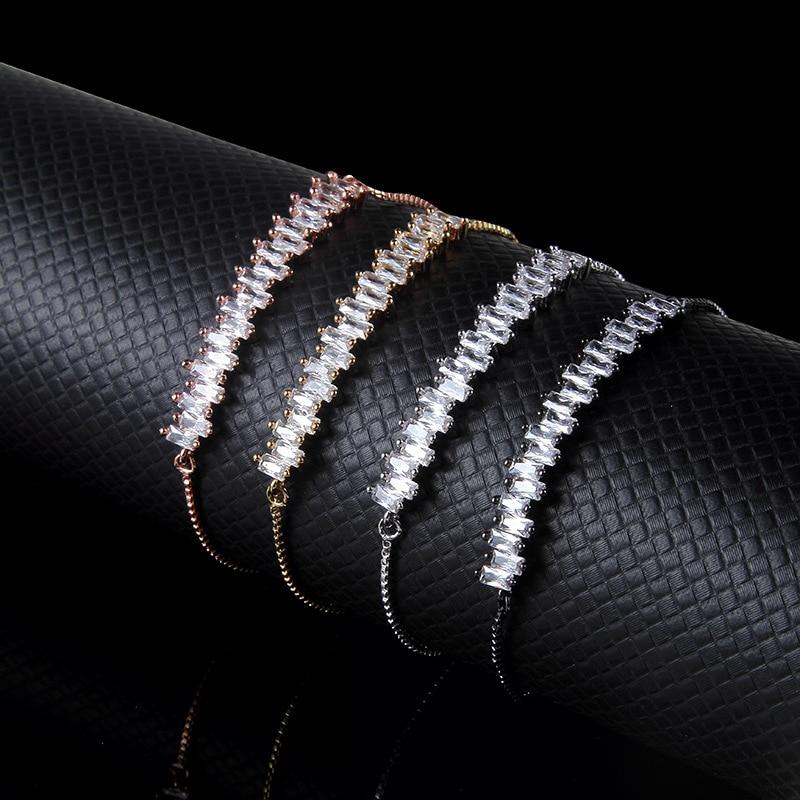 10pcs Shiny Rhinestone Bracelets Fashion Wholesale Jewelry Women Free Shipping