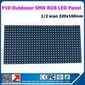 Высокое качество 40 шт. много SMD RGB видео P10 открытый полноцветный из светодиодов жк-модуль 320 * 160 мм 1/2 scan открытый P10 из светодиодов рекламный щит