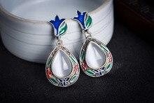 mujer moda pendientes oorbellen earring VINTAGE NATURAL OPALS BEADS 925 STERLING SILVER MARCASITE EARRINGS