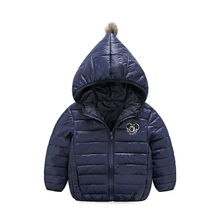 New autumn winter 3-8 years children young children boys girls coat down jacket embroidered badminton sportswear clothes outwear