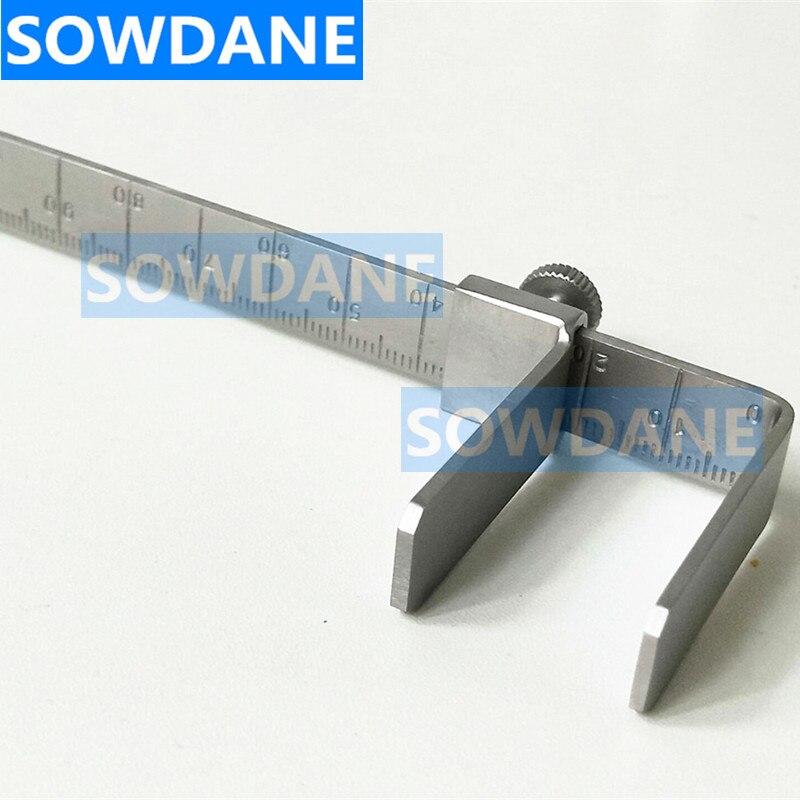 Dental Orthodontic Rulers Material Dental Vertical Distance Caliper Measuring Ruler Caliper stainless steel measuring ruler in Teeth Whitening from Beauty Health