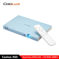 COOLUX X6S Mini Smart Android Projector 1080P Wireless Bluetooth Wifi 4K 300 ANSI lumens DLP Mobile Cinema Portable Projector
