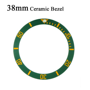 Black/Blue/Green Watches Replace Accessories 38mm Watch Face Ceramic Bezel Insert For 40mm Submariner Automatic Mens