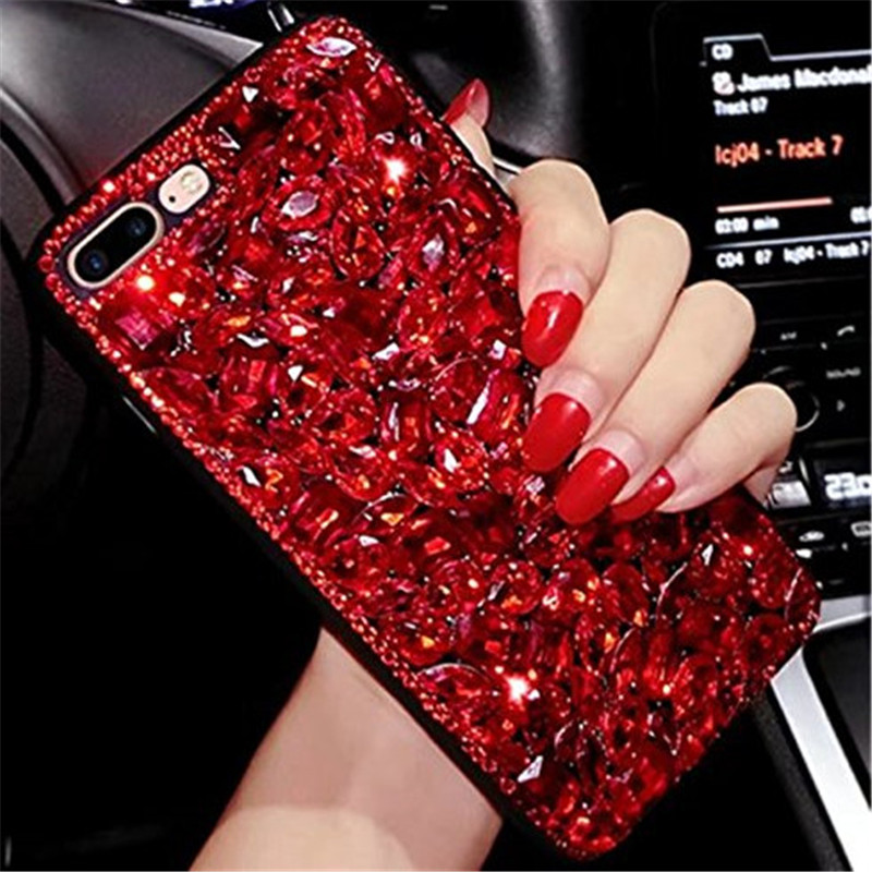 1Pcs Fashion Super Luxury Crystal Rhinestone Diamond Bling Phone Case For OPPO A57 A37 A1 A3 A5 F1s F1 Plus F3 F5 F7 F9 Cover