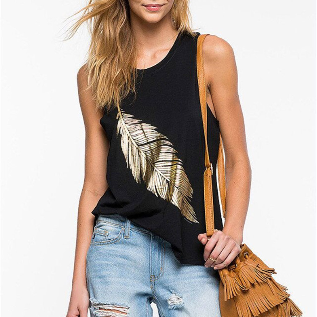 CHAMSGEND   Tank     Tops   Sexy Women U Neck Print Strapless Vest Fashion Backless Casual Sleeveless   Top   Solid Color Vest Camis 31DEC30