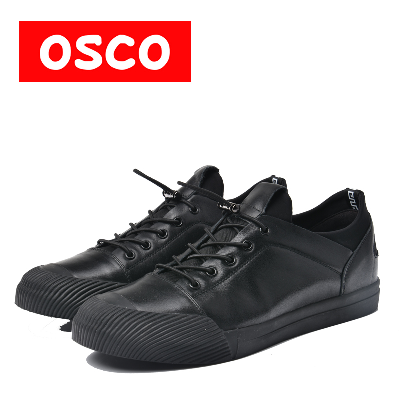 OSCO ALL SEASON New Men cow leahter Shoes Fashion Men Sneakers  Shoes #A9500-1 пена бытовая mastertex all season 300 мл всесезонная