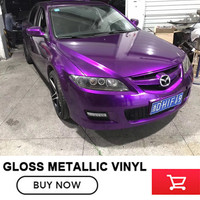 High Quality Glossy Metallic Purple Vinyl Wrap Gloss Purple Metallic Vinyl Roll Bubble Free Car Wrapping Size:1.52*20M(5ft*65ft)