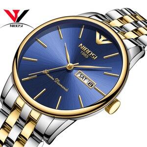 Image 2 - Relogio Masculino NIBOSI Luxury Simple นาฬิกาผู้ชายผู้ชายสแตนเลสปฏิทินวันที่และวันแฟชั่นนาฬิกา 2018 Saat