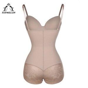Image 3 - TOPMELON seksowna bielizna cienki jedwab stałe Shapewear dla kobiet gładkie miękkie body bielizna wyszczuplająca brzuch bielizna czarny Nude