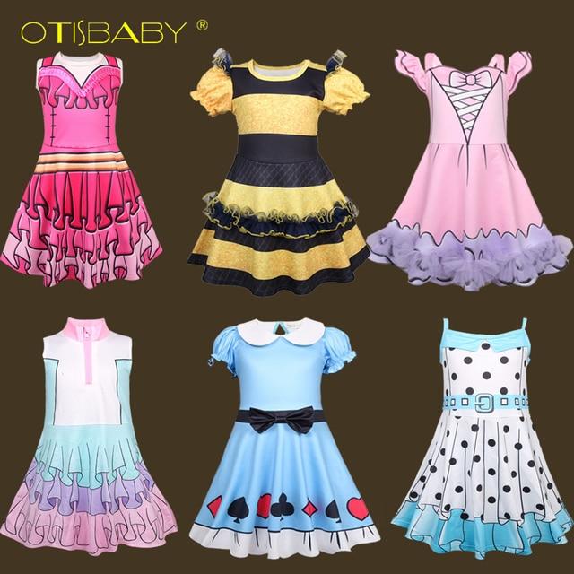 ¡Novedad de 2019! Vestido Lol para niñas, vestido de tutú bonito de princesa elegante de seda de leche, disfraz infantil de Halloween Lol para niños