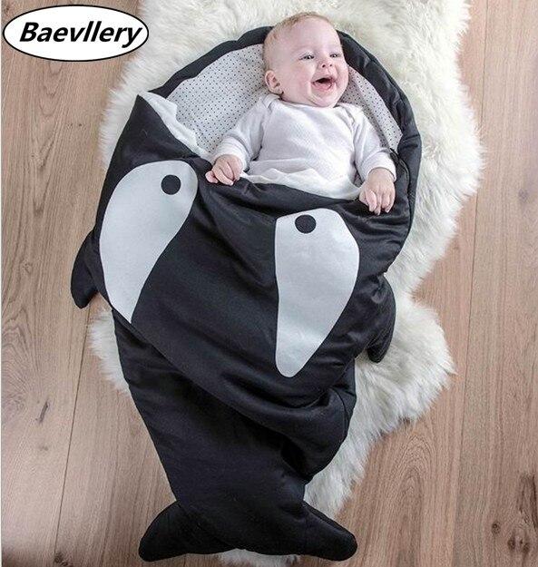 Promotion! requin dormir sac bébé saco de dormir par bebe super doux sac de couchage de la poussette