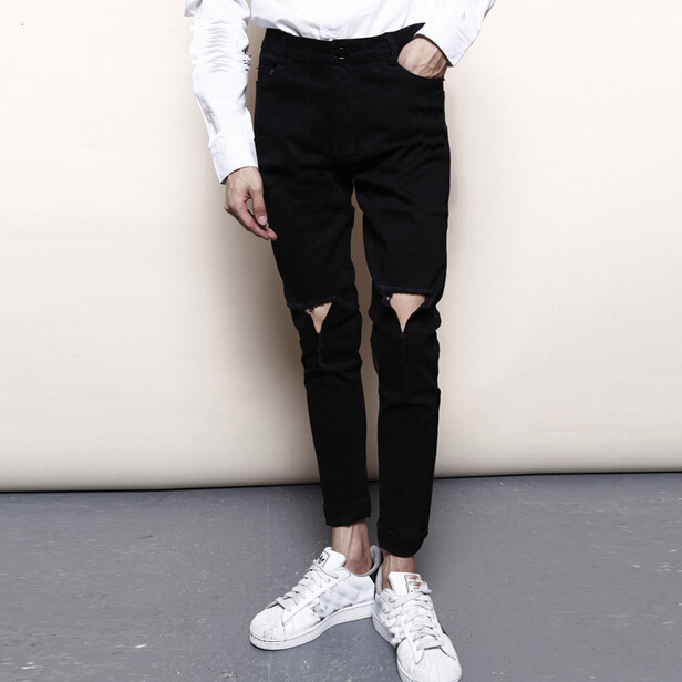 Compare Prices on Men Black Ripped Jeans- Online Shopping/Buy Low ...