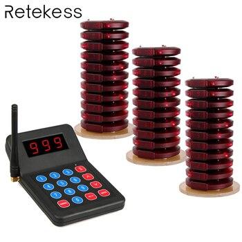 Sistema de Chamada sem fio Restaurante Pager Pager Coaster + 1 30 Transmissor Sistema de Chamada Restaurante Equipamentos F3357