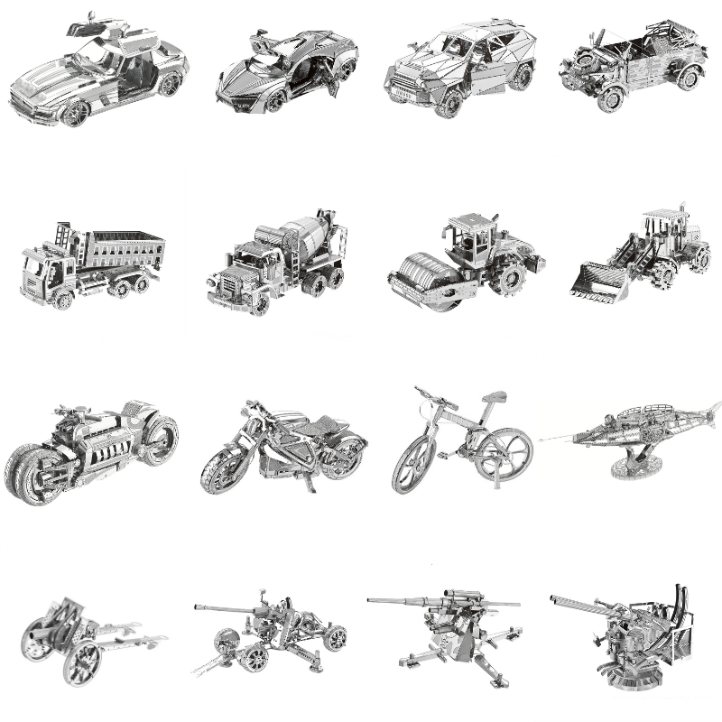3D Metal Puzzles Model Multi-style DIY Laser Cut Manual Jigsaw Kits For Adults Home Decor Collectional Educational Toys Hobbies