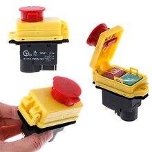 Interruptor de inicio y parada, 250V, 16A, IP54, sin voltios, con parada de emergencia, 1 ud.