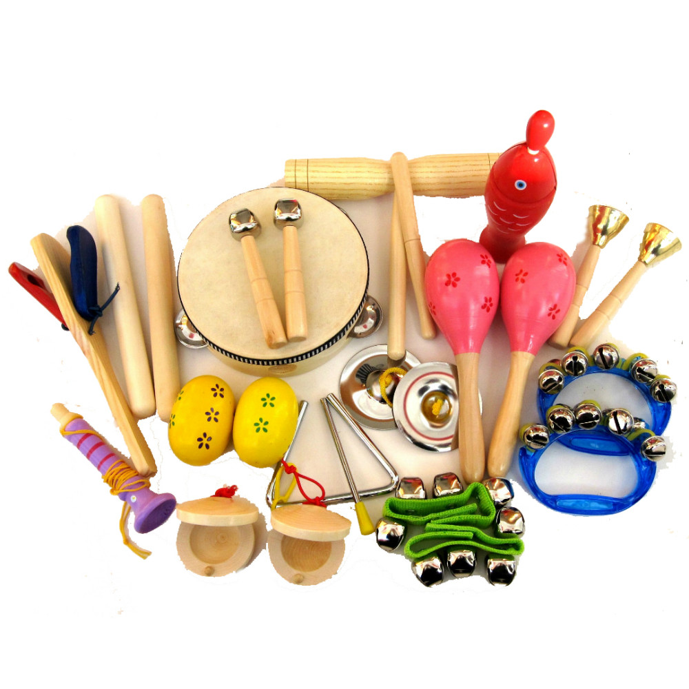 15 types music instruments kit children preschool percussion musical