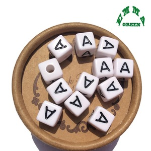Image 1 - Beads for Jewelry Making Letter Beads 10mm 550pcs A Z Separate Alphabet Beads White Beads Square Beads for Kids Acrylic Beads