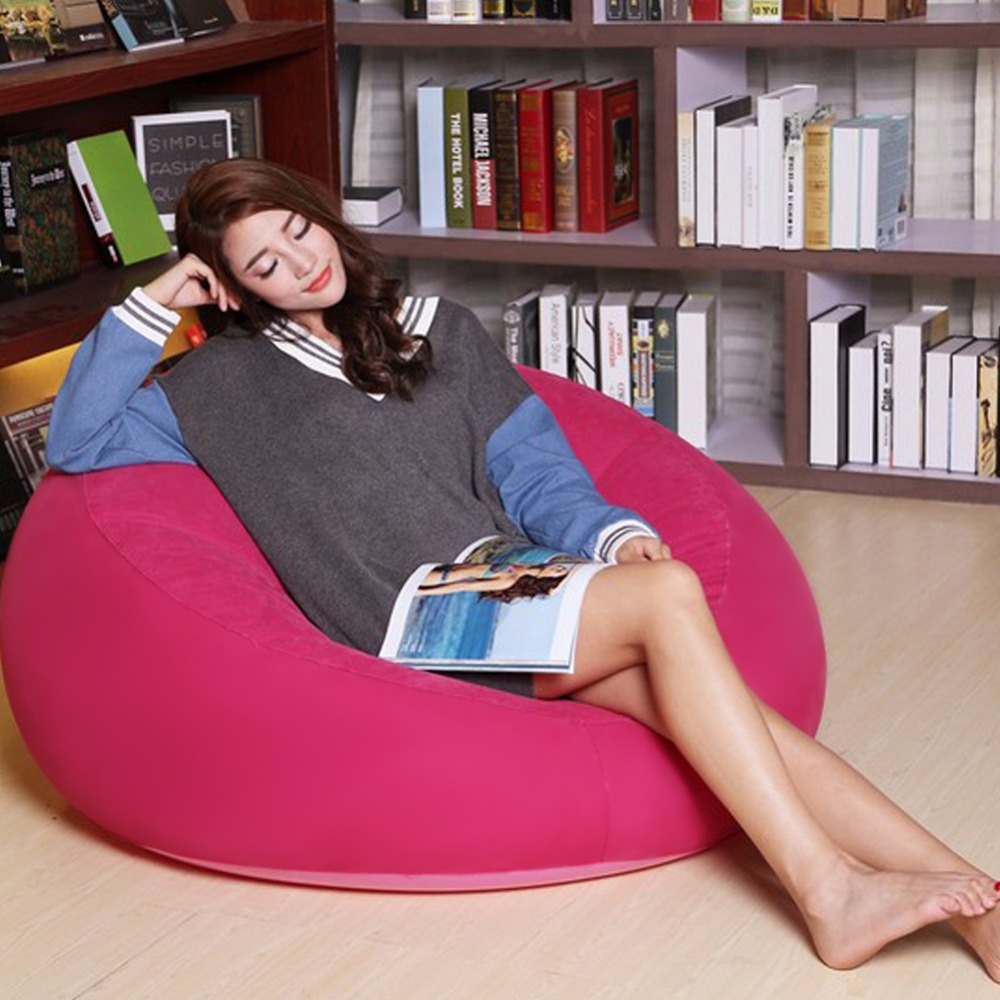 Bean Bag Chair, Large Inflatable Seat Bearing 220lb For Adults Inflatable  Chair, For Indoor Bedroom Furniture And Outdoor Couch In Living Room Sofas  From ...