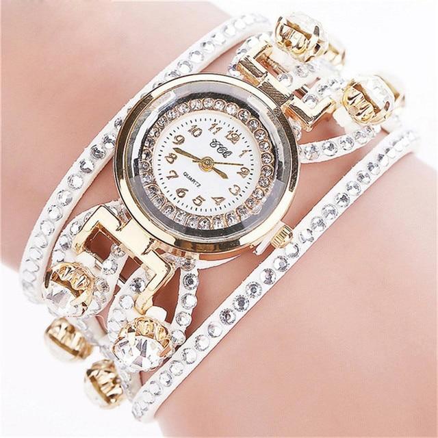 Watch 2018 Luxury Vintage Leather Bracelet Watch Women Wristwatch Ladies Dress Q