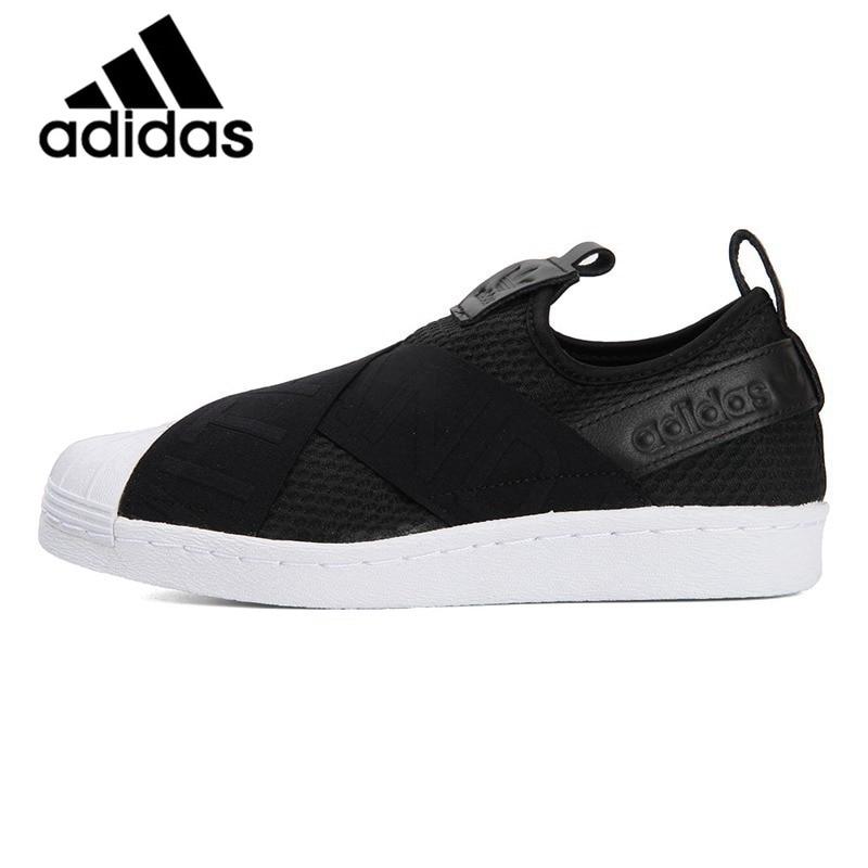 33fb547ac5f Comprar Oficial Original Adidas Originals SLIPON CQ2382 WFOUNDATION BAIXO  Sapatos de Lazer Respirável Tênis de Skate das Mulheres Clássico Baratas  Online ...