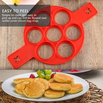 Environmental Non-Toxic Home Kitchen Accessories Non-Stick Silicone Baking Cake Egg Ring Pancake Cooking Mould Mold Crepe Makers