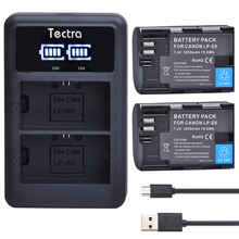 2 Pcs 2650 mAh LP-E6 LPE6 LP-E6N Li-ion bateria + Display LED USB Carregador Duplo para Canon 5D Mark II Mark III 6D 7D 60D 60Da 5DS 70D