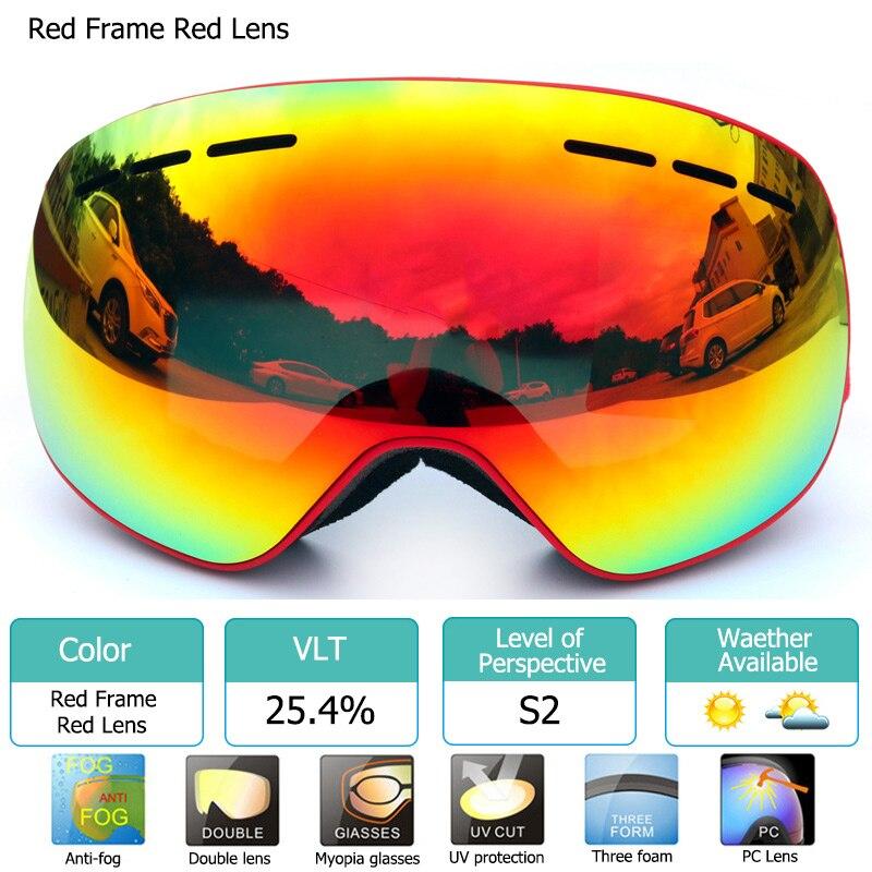 Óculos de esqui com Magnéticos Camadas Duplas Lentes polarizadas ... a8f07211f7