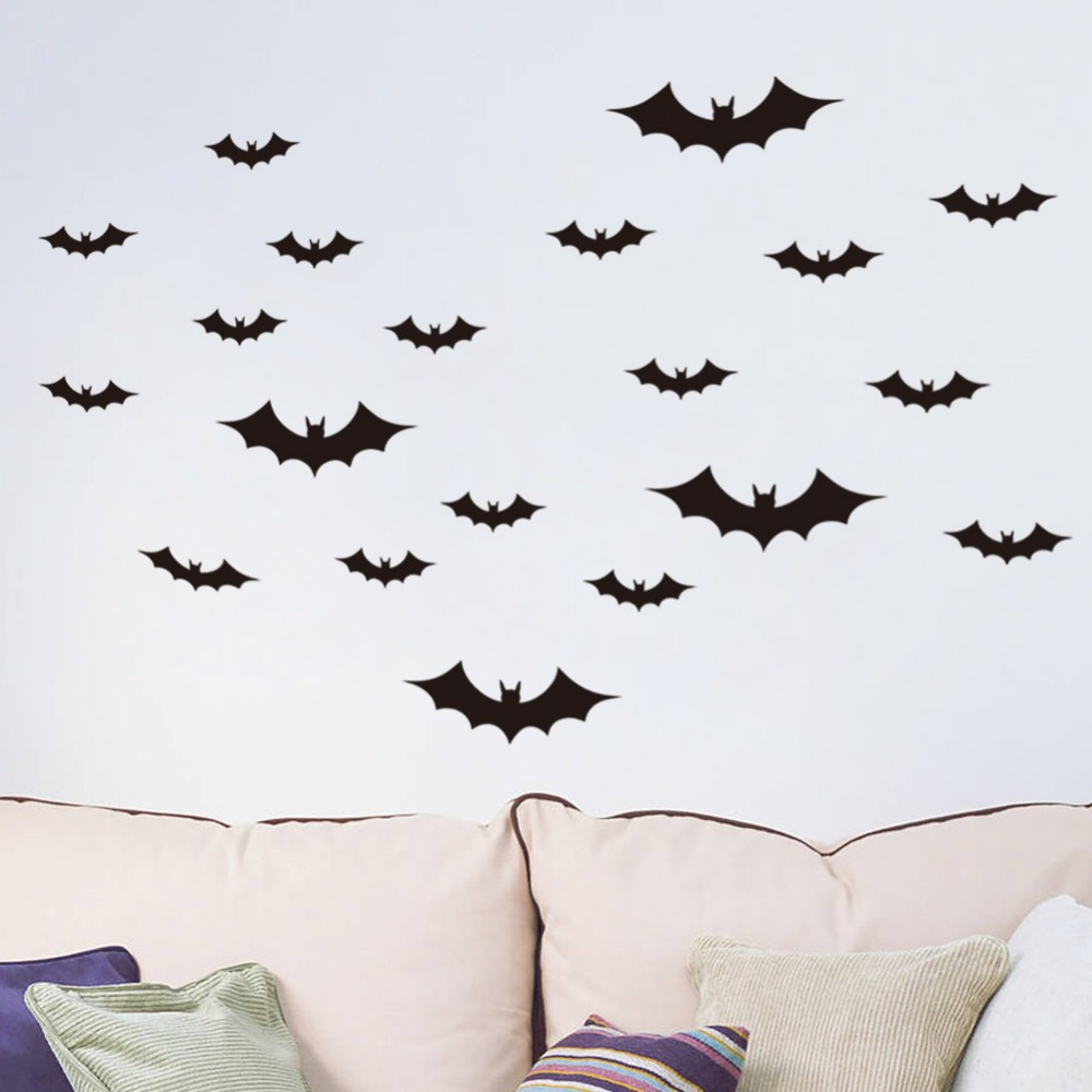 online get cheap vinyl wall decals aliexpress com alibaba group black bat wall sticker kids room bedroom home decoration 3d vinyl wall decal poster mural
