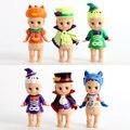Sonny Ángel de Halloween de la Serie Mini PVC Figuras de Acción Colección Modelo Juguetes Muñecas 6 unids/set KT2182