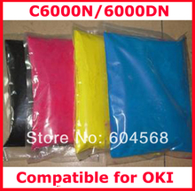 High quality color toner powder compatible for OKI C6000N/6000DN Free shipping