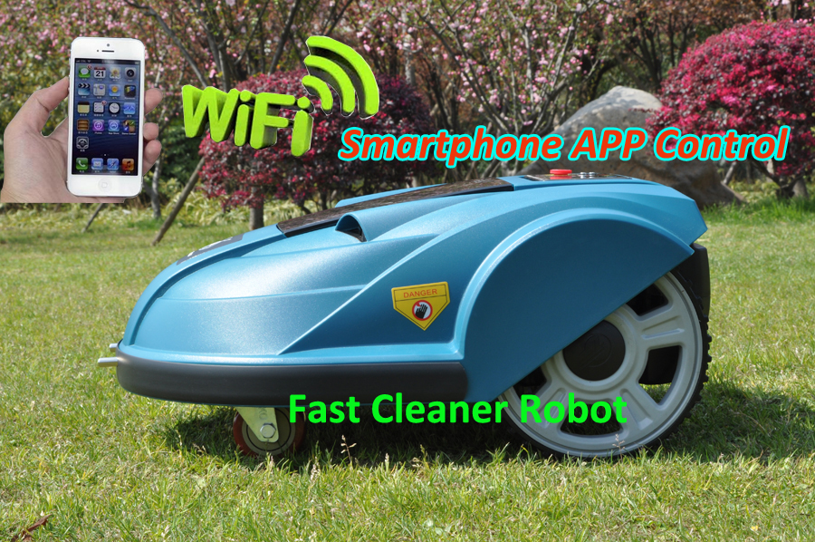 Smartphone WIFI App Control Electric Lawn Mower S510 Garden Machine Robot With Newest Subarea Function And Range function newest wifi app smartphone wireless remote control lawn mower robot with water proofed charger range subarea compass functions