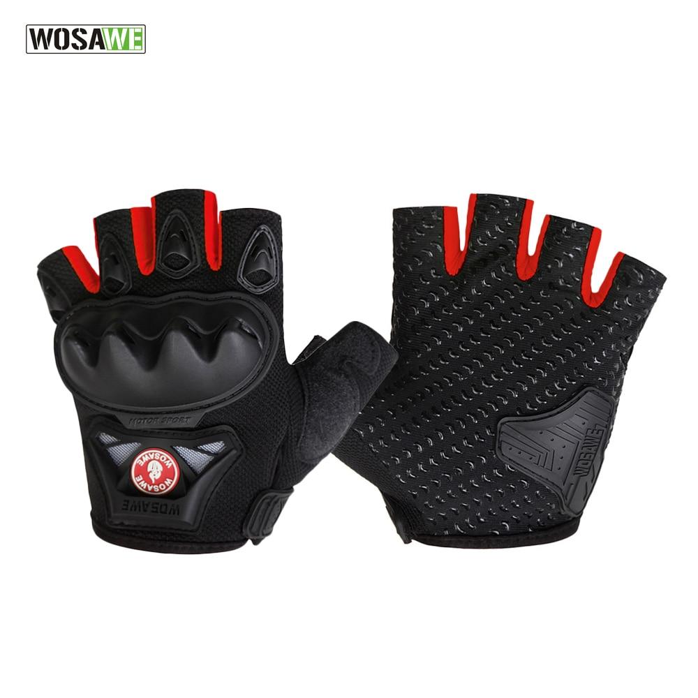 WOSAWE GEL Pad Half Finger Radfahren Handschuhe Sommer Racing luvas para ciclismo MTB Mountainbike Fahrrad Zyklus Handschuhe Für Mann frauen