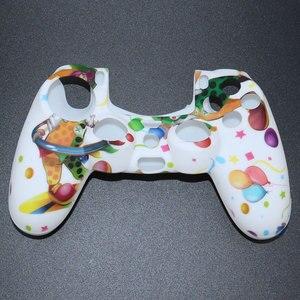 Image 5 - YuXi funda de goma de Gel de silicona camuflaje para Dualshock 4, Playstation 4, PS4 Pro, mando fino