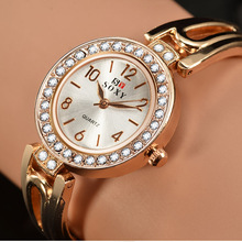 SOXY Top Brand Women Watches Rose Gold Quartz Rhinestone Wri