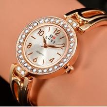 SOXY Top Brand Women Watches Rose Gold Quartz Rhinestone Wrist watch B