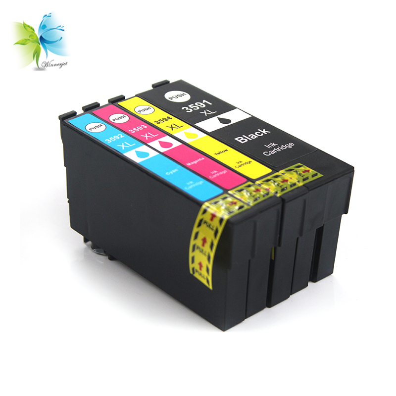 Winnerjet 10 Sets 4 Colors 35XL T3591 Compatible Ink Cartridge for Epson Workforce Pro WF 4720DWF WF 4725DWF WF 4730DTW Printers in Ink Cartridges from Computer Office