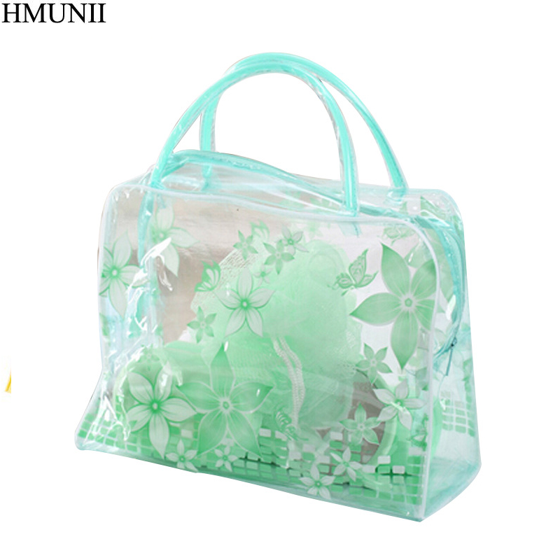 HMUNII Color plastic Transparent Organizer bags Cosmetic Bags Makeup Casual Travel Waterproof Toiletry Wash Bathing Storage bags ladsoul 2018 women multifunction makeup organizer bag cosmetic bags large travel storage make up wash lm2136 g