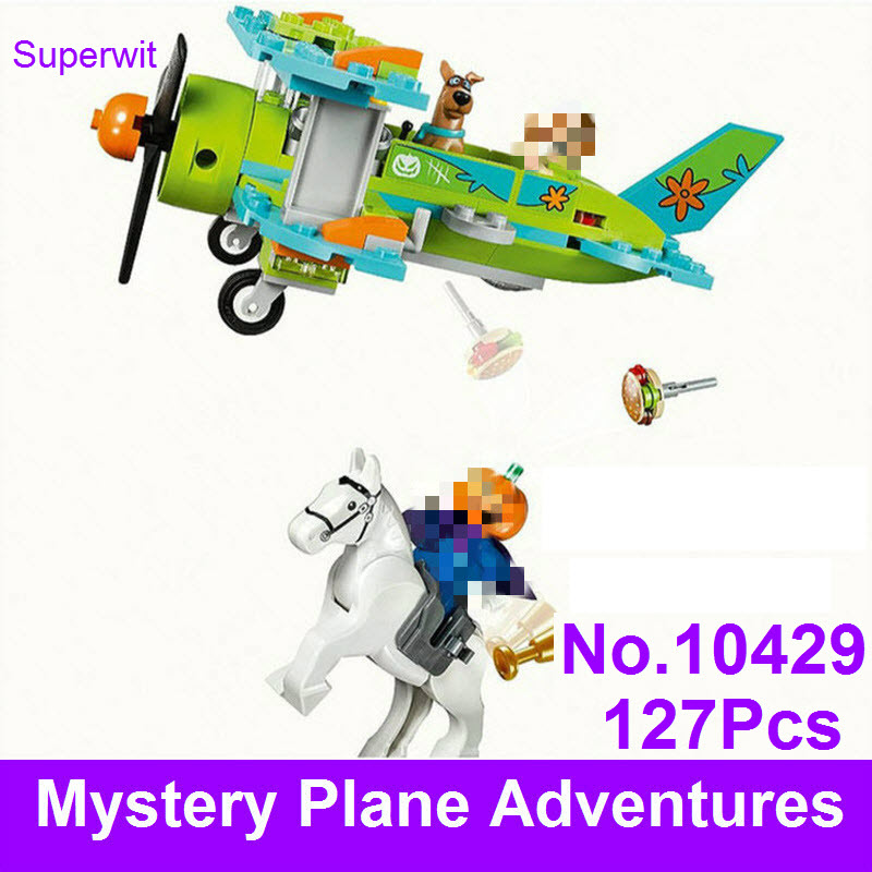 BELA 10429 Scooby Doo Figures Mystery Plane Adventures Machine Building Blocks Bricks Toy Compatible With Lepin 75901 Toys
