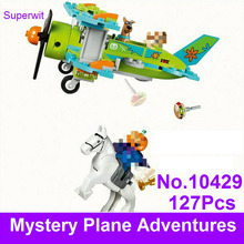 BELA 10429 Scooby Doo Figures Mystery Plane Adventures Machine Building Blocks Bricks Toy Compatible With Lepin